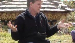 Bob Thurman talks on transcending suffering at Dochula in Bhutan.